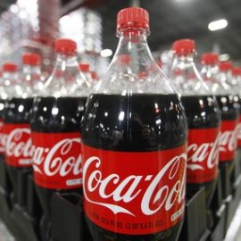 Bottles of Coca-Cola are seen in a warehouse at the Swire Coca-Cola facility in Draper